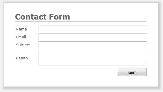 Membuat Contact Form Sederhana