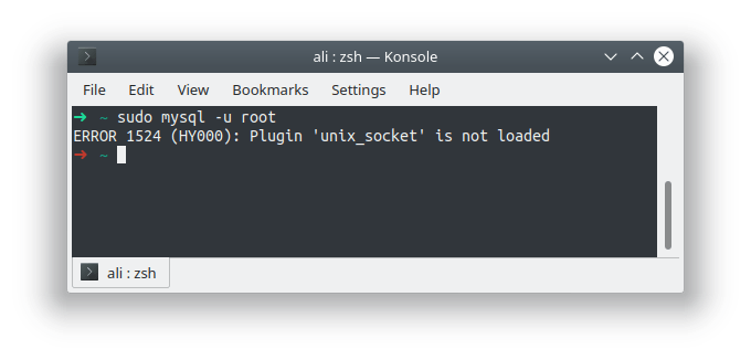 Memperbaiki MySql: ERROR 1524 (HY000): Plugin 'unix_socket' is not loaded mysql di Ubuntu